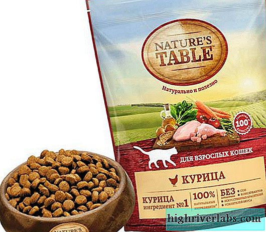 Nature's Table cat food. Analysis of the composition, purpose and assortment